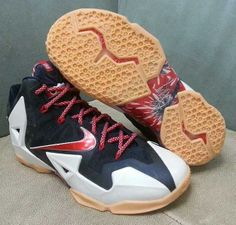 Authentic Nike Lebron 11 Independence Day  For Sale Online Free Shipping http://www.blackonshoes.com/nike+lebron/nike+lebron+11