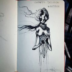 Cotard's Delusion by Shawn Coss, #inktober series.