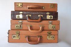 Vintage Leather Briefcase Attache from Diz Has by dizhasneatstuff, $35.00