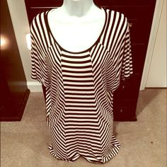 ❣️ Black & White Batwing Top 🎉 Style Obsessions Party 01/03/16 🎉 Excellent Condition | Never Worn | Black & White Stripes | Diagonal & Vertical Stripes | Batwing Sleeve | Flowy |96% Rayon | 4% Spandex |🚫 Trades | Feel Free to Ask Questions 🙋| More 📷 Upon Request | Bundles & Offers are Welcomed ❤️| Kenneth Cole Tops Blouses