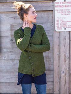 95cc7a53838746 Classic Knitting! Feya V-Neck Cardigan Sweater Knitting Pattern using  Berroco Catena Yarn Knitting