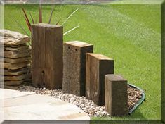 Garden Design With Railway Sleepers tranquil earth - building gardens with railway sleepers | exterior