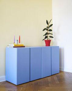 Furniture Makeover, Diy Furniture, Furniture Design, Minimalism Living, Ikea Ivar Cabinet, Estilo Interior, Interior Decorating, Interior Design, Piece A Vivre