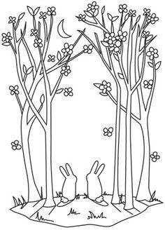 Moonlit Spring design (UTH10457) from UrbanThreads.com