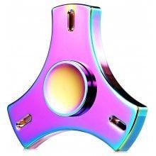 Tri-blade Fire Wheel Rainbow Fidget Spinner EDC ADHD Focus Toy