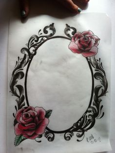 VINTAGE LOOKING FRAME TATTOO idea for my leg piece ♡