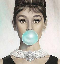 Audrey Hepburn Bubble Gum by Michael Mobius