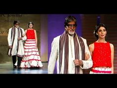 Amitabh Bachchan with daughter Shweta walks the ramp at Mijwan Fashion Show 2015.