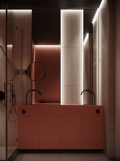 Residential Architecture, House Design, Seasons, Orange, Mirror, Projects, Ark, Furniture, Bathrooms