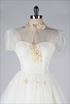 1950's White Tulle Dress with Jacket