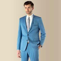 Ben Sherman Bright blue 2 button Camden skinny fit suit jacket- at Debenhams Mobile