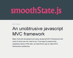 smoothState.js – jQuery Plugin for Neat Page Transitions  #jQuery #smooth #transition #effect #animation #scroll