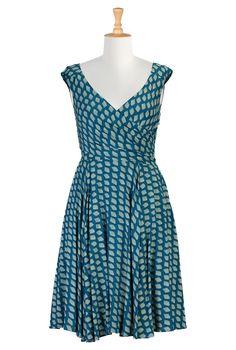 Savannah graphic print dress | eShakti