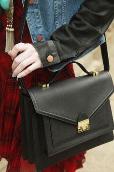 Loeffler Randall Rider Bag via @TeenVogue Tour Sea of Shoes Blogger Jane Aldridge's Sweet Dallas Digs