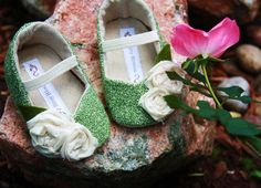 Garden Party-soft soled baby shoes