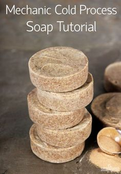 This Mechanic Soap recipe is perfect for removing grease and grime from hands. It's made with natural orange essential oil, walnut shells and pumice.