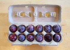 Nutze Eierkartons, um empfindliches Obst sicher aufzubewahren. | 29 geniale Sommer-Hacks für Eltern