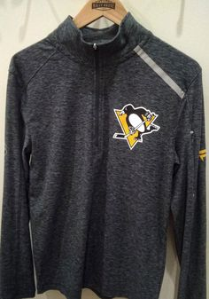 Pittsburgh Penguins Mens Grey Off Ice Long Sleeve 1/4 Zip Pullover - 17258806 Pittsburgh Pirates, Pittsburgh Penguins, Pittsburgh Steelers, Penguin T Shirt, Pitt Panthers, Stay Warm, Ice, Pullover, Long Sleeve