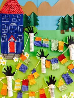 Muumi-projekti - www.opeope.fi Tove Jansson, Crafts For Kids, Arts And Crafts, 3rd Grade Art, Oragami, Moomin, Little My, Elementary Art, Teaching Art