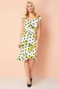 Roman Originals Women/'s Ditsy Floral Dress Sizes 10-20