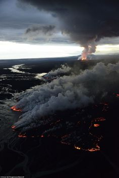 awesome Stunning pictures of the volcano Bardarbunga erupting