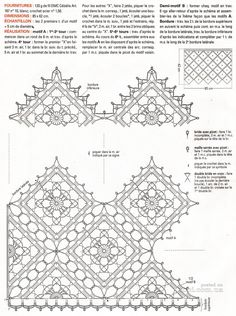 Crochet Borders, Crochet Diagram, Crochet Chart, Crochet Squares, Crochet Motif, Crochet Designs, Crochet Patterns, Crochet Dollies, Crochet Diy