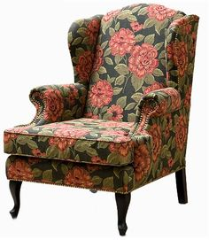 Английское кресло с ушами