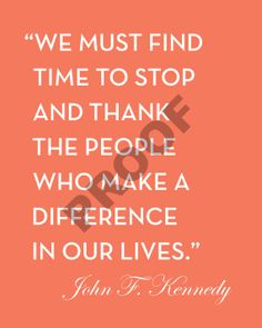 THANKSGIVING Customizable JOHN F. KENNEDY Quote Printable by JaydotCreative