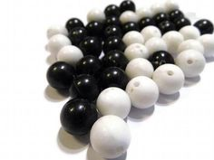 Vintage Black and White Beads by PotatoFace, $4.50 USD