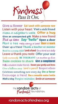 Random Acts of Kindness ...do one every  week in July ( my birthday month )Done ...now do lots more !