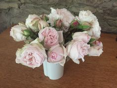 A bunch of beautiful heritage roses pick before the Nor'west winds destroyed them.