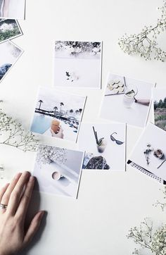 Beautiful minimal instagram photos. Love the minimal look. Square prints by Inkifi. Have your instagram photos printed on environmentally sustainable materials.