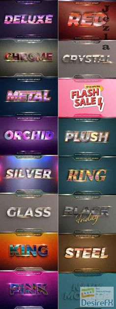 Editable font effect text collection illustration design 208 Eps Vector, Vector Stock, Red Words, Word Fonts, 3d Crystal, Text Effects, Illustration, Graphics, Graphic Design