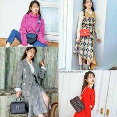 Jung In Sun in Grazia Pictorial 🖤🖤 swipe to see full pictures ➡️➡️ ------- Jung In, Bae Suzy, Korean Actresses, Korean Drama, Kdrama, Universe, Shirt Dress, Sun, Actors