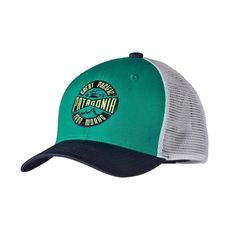 a1e4ed59e54 Blue Ridge Mountain Outfitters - Patagonia Kids  Trucker Hat - Logo Sign   Emerald