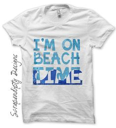 Iron on Beach Shirt PDF - Summer Iron on Transfer / Kids Beach House Decor / Toddler Boys Clothes / Womens Shirt / Ocean Print IT223. $2.50, via Etsy.