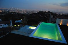 Night swimming..  Los Angeles skyline. Photo credit: Eric Chan