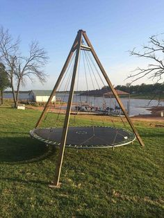 trampoline repurpose backyard lounge, diy, outdoor living, woodworking projects #backyardtrampoline #backyardtrampolineoutdoor