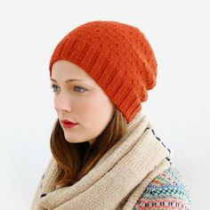 Pattern for the perfect slouchy beanie with a lovely (and easy!) textured pattern, knit in DK weight cushy merino yarn. Ribbed brim, loose fit.Sizes: Adult Wome