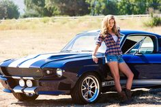 Vintage Motorcycles Muscle - Nothing better than Heather with a cool Mustang Shelby. size: 11 x 17 (photo by Miguel Amodio) Classic Mustang, Ford Classic Cars, Classic Auto, 1966 Chevelle, Chevrolet Camaro, Sexy Cars, Hot Cars, Mustang Girl, Shelby Mustang
