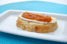 Pumpkin butter with brie cheese on French bread, italian bread, sourdough or crackers