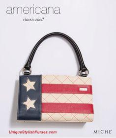 Unique Stylish Purses | Miche Bags: Miche Denim Americana Classic Shell