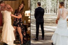 Bride Pranks Groom By Sending Her Brother For 'First Look' Wedding Snaps — LADbible Bridesmaid Dresses, Prom Dresses, Wedding Dresses, Everything Popular, Dark Red Hair, Sewing Lingerie, Victoria Secret Panties, How To Iron Clothes, Professional Outfits