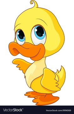 Buy Baby Duck by Dazdraperma on GraphicRiver. Illustration of baby duck smiling. Duck Drawing, Drawing For Kids, Art For Kids, Duck Cartoon, Cartoon Pics, Duck Illustration, Baby Animals, Cute Animals, Duck Pictures