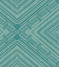 Upholstery Fabric- Waverly Cliff Dwelling turquoise