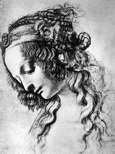 Mary Magdalene, drawing by Leonardo Da Vinci