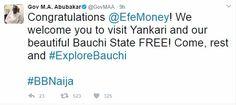 #BBNaija: Bauchi State Governor Invites Efe To Yankari For Free Relaxation