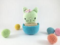 Crocheted Cat Cactus Crochet Cactus Crochet Kitty by MossyMaze