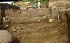 Stratigraphy refers to the natural and cultural soil layers that make up an archaeological deposit.