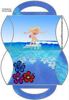 Barbie Vida de Sereia - Kit Completo com molduras para convites, rótulos para guloseimas, lembrancinhas e imagens!